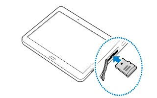 How To Insert Memory Card - Samsung Galaxy Tab S