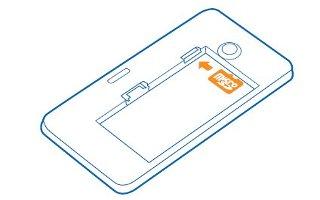 How To Insert Memory Card - Nokia Lumia 635