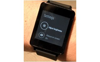 How To Use Display Settings - LG G Watch