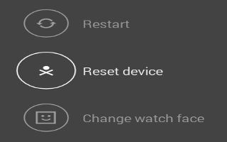 How To Reset - LG G Watch