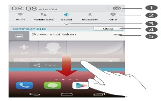 How To Use Notification Panel - Huawei Ascend P7
