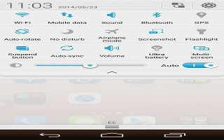 How To Use Airplane Mode - Huawei Ascend P7