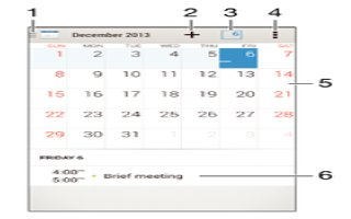 How To Use Calendar - Sony Xperia C3 Dual