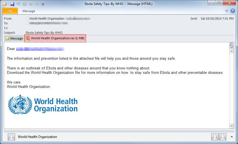 Watch Out For Ebola Fears In Email Scam