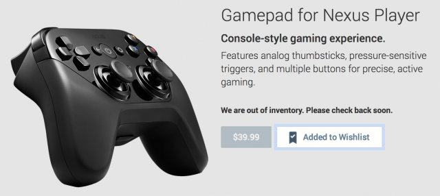 $40 Nexus Player Gamepad Up For Pre-Order