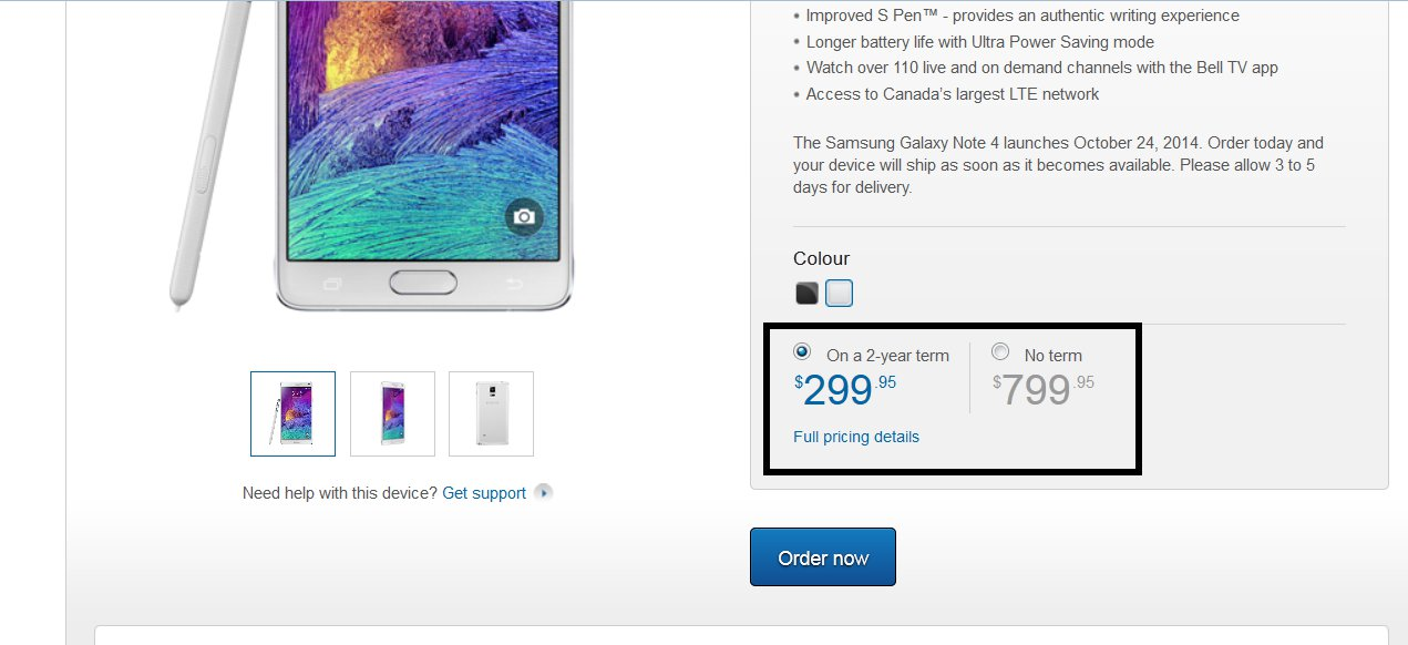 Samsung Galaxy Note 4 Launching On Oct 24 In Canada
