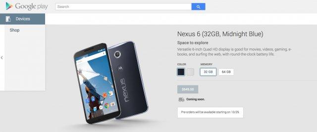 Nexus Pre-Orders Starts On October 29