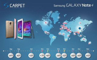 Samsung Lunch Timeline Map On Samsung Galaxy Note 4 Release