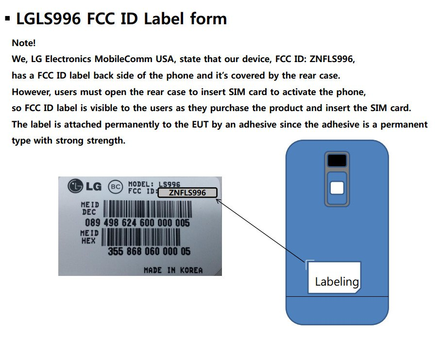LG LS996 Android Smartphone With Sprint Clears FCC