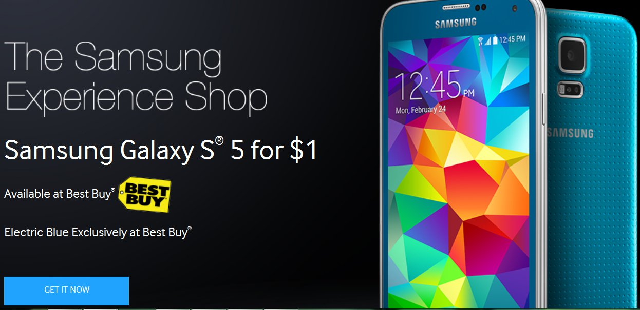 Samsung Galaxy S5 Is Just $1 On Best Buy