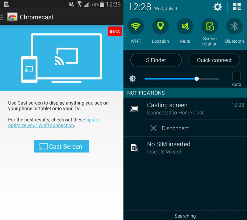 Google Adds Chromecast Screen Mirroring For Samsung Galaxy Note 4
