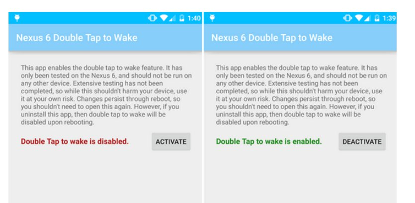 Double Tap To Wake With $1 Root App On Nexus 6