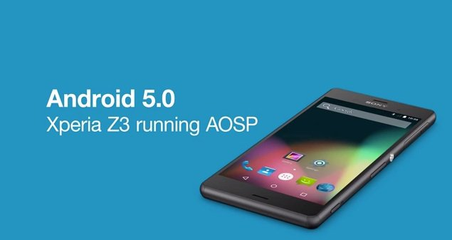 Sony Shows AOSP Version Of Android 5.0 Lollipop Running On Xperia Z3