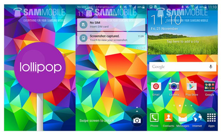 Android 5.0 Lollipop For Samsung Galaxy S5 Arrives On Europe