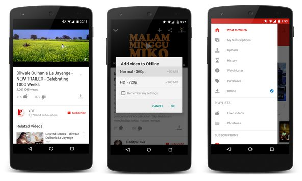 YouTube Launches Offline Playback For Android In 3 Countries