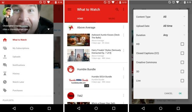 YouTube For Android Updated To Version 6.0.11