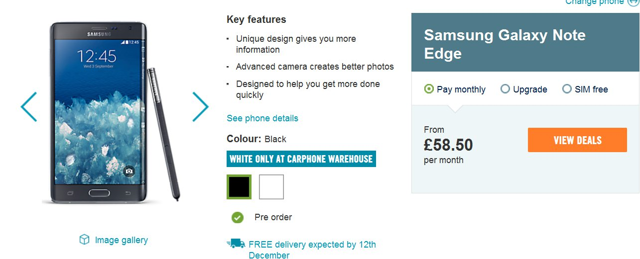 Samsung Galaxy Note Edge Will Ship On Dec 12 In UK