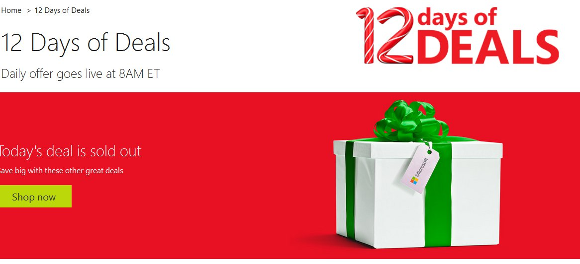Microsoft 12 Days Of Deals Offers Windows Phones, Tablets And Other At Discount