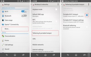 How To Share Mobile Data Connection On Sony Xperia Z3 Compact