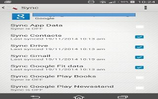 How To Sync With Online Accounts On Sony Xperia Z3 Compact