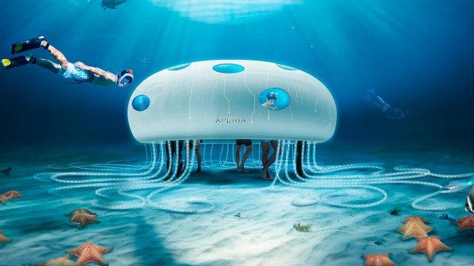 Sony's Underwater Aquatech Store Opens