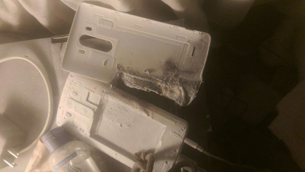 LG G3 Exploded In Bed While Charging