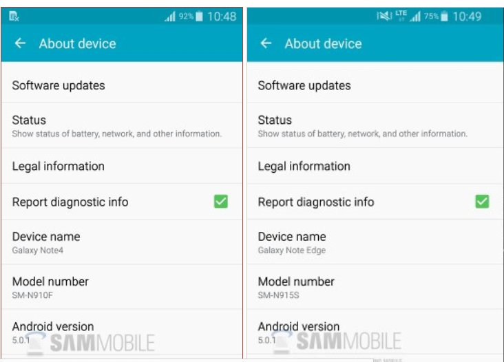 Samsung Galaxy Note 4 And Note Edge Will Get Android 5.0.1 Directly