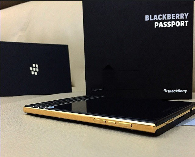Limited Edition BlackBerry Gold Passport Coming Soon