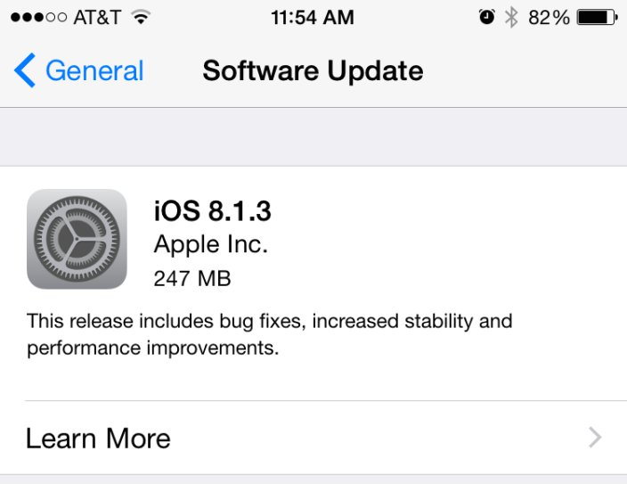 Apple Releases iOS 8.1.3 And Mac OS X Yosemite 10.10.2