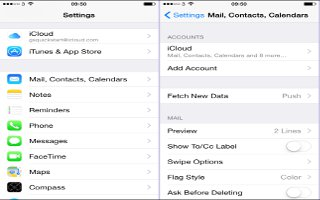 How To Seup Mail, Contact, Calendar Accounts On iPhone 6 Plus