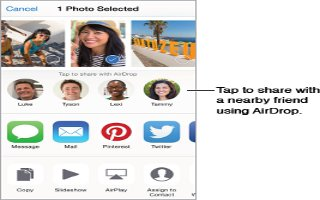 How To Share Using AirDrop On iPhone 6