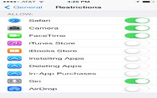 How To Use Restrictions On iPhone 6