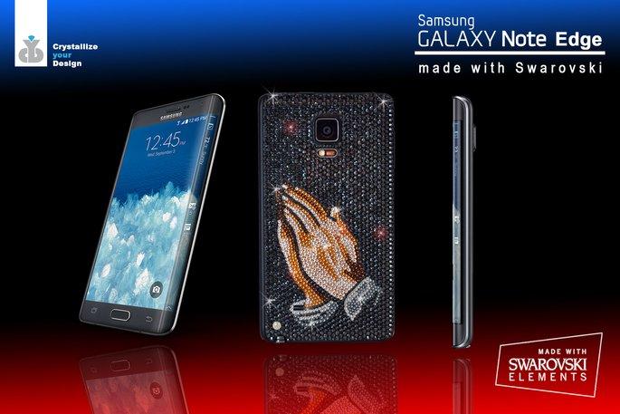 Samsung Galaxy Note Edge With Swarovski Crystals Looks Premium