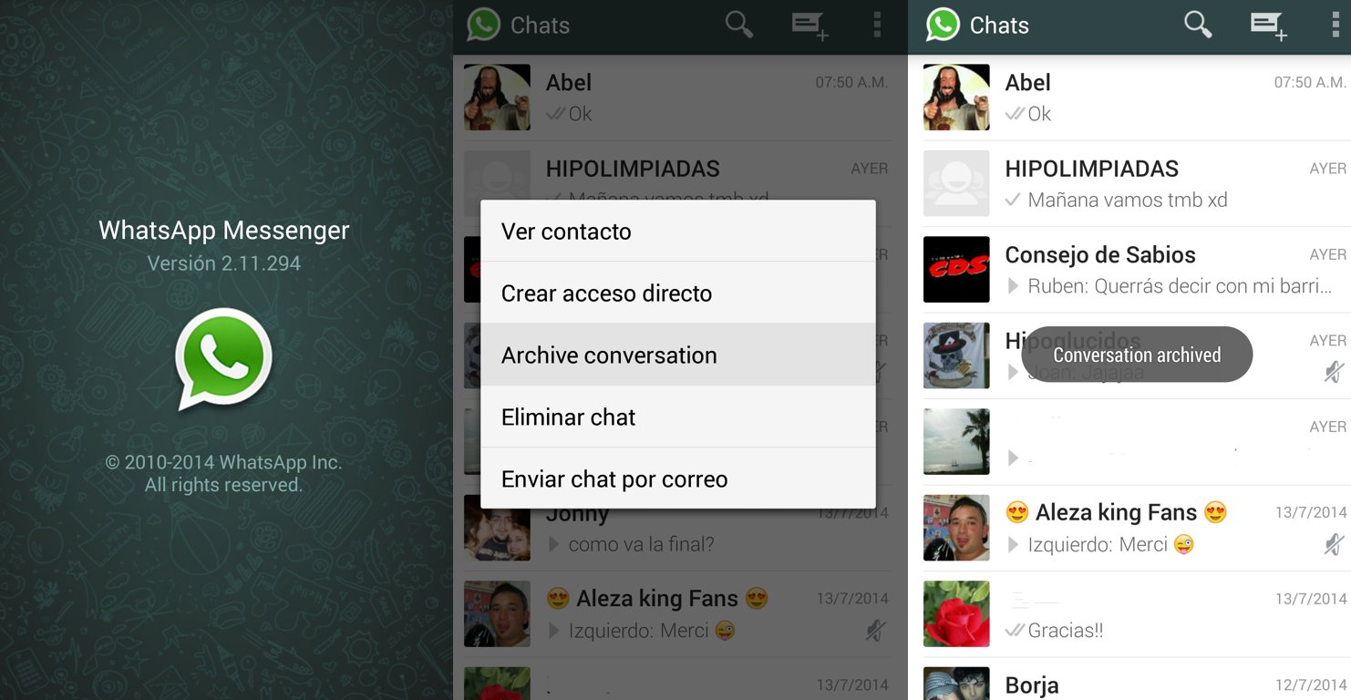 How To Use Archive - WhatsApp