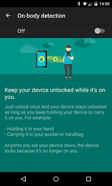 On Body Detection Smart Lock Feature Update Rolling Out To Some Android Devices