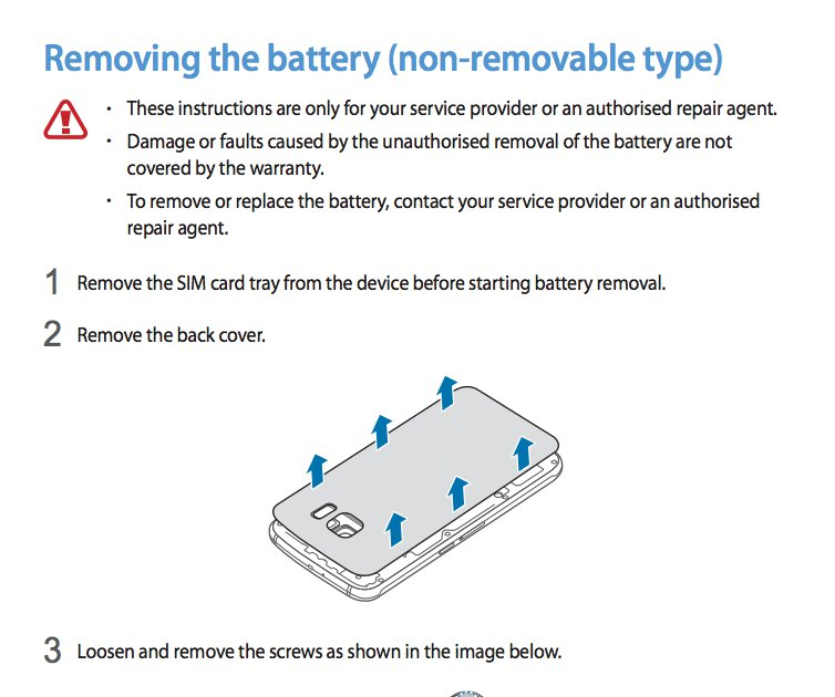 Samsung Galaxy S6 Battery Is Removable Says Samsung Manual