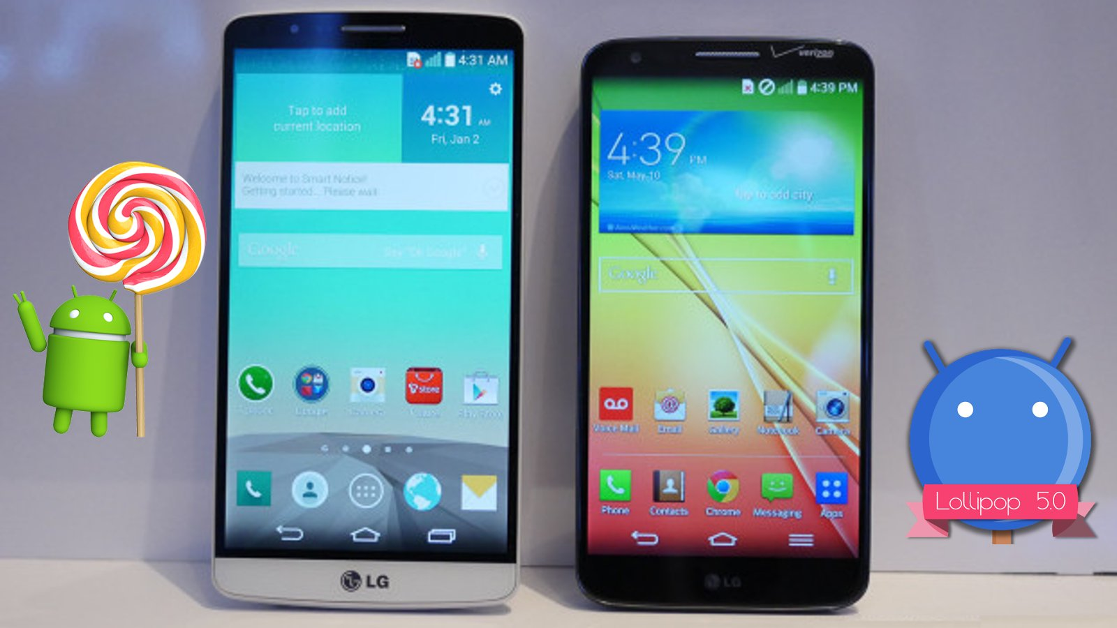 Android 5.0 Lollipop Updates For T-Mobile LG G3 And LG G2 Enters Carrier Testing