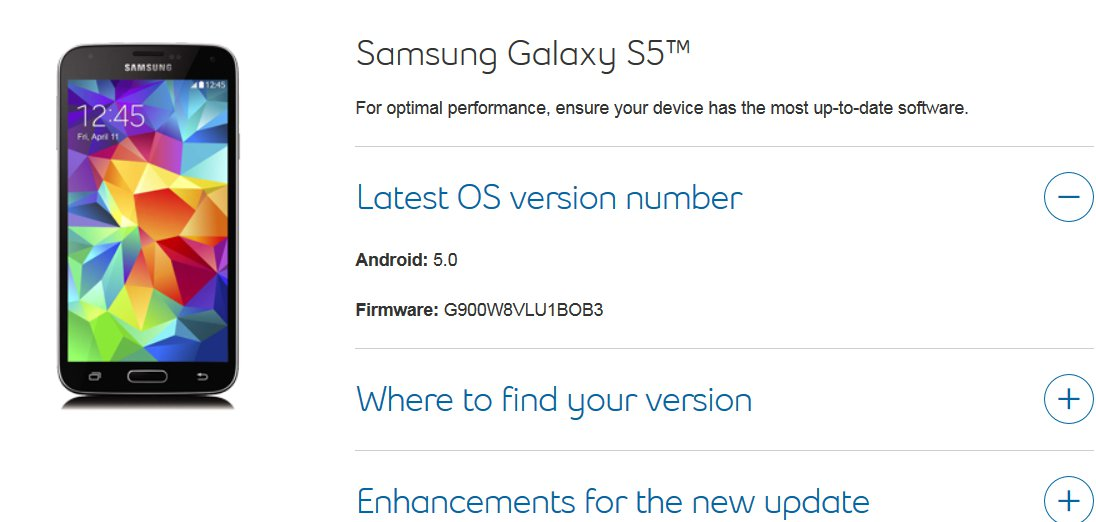 Samsung Galaxy S5 Gets Android Lollipop In Canada