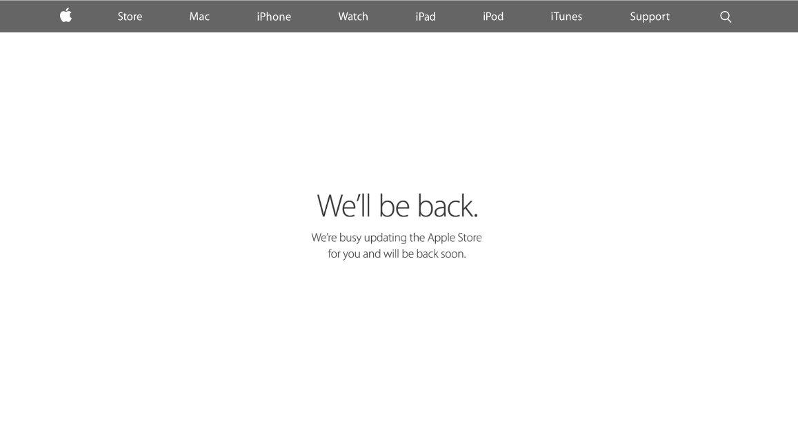 Online Apple Store Down