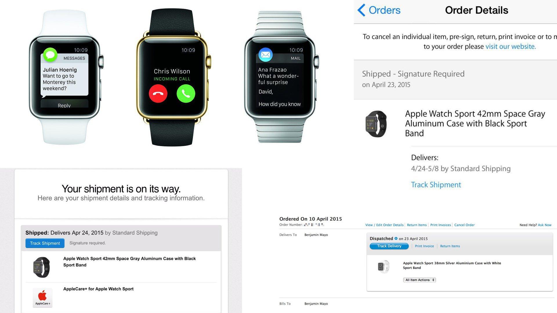 Apple Watch Shipment Details