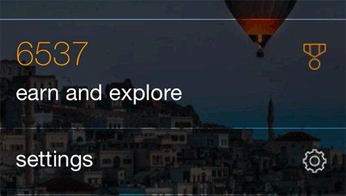 Bing Mobile Homepage - Rewards & Settings Card