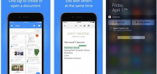 Google Chrome & Docs Apps For iOS