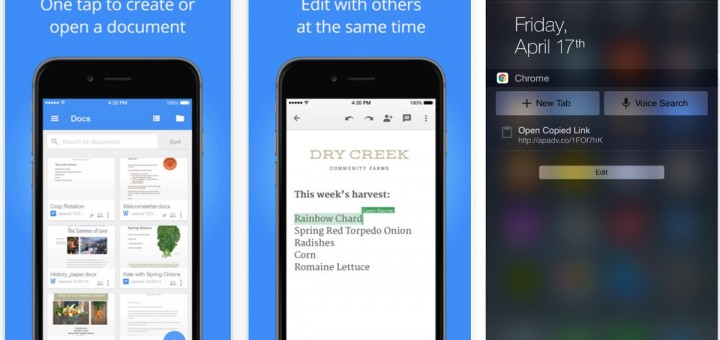 google chrome amp docs for ios gets new features prime