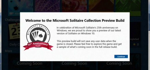 Microsoft Solitaire - Preview Build