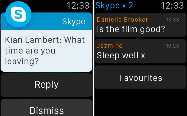 Skype For Apple Watch - Chat