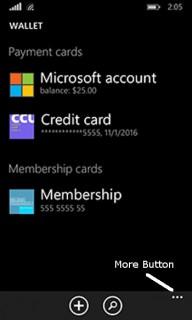 Windows Phone 8 - Wallet Card Screen