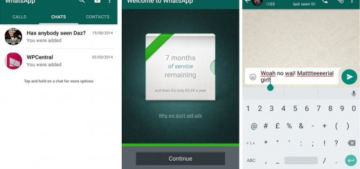 WhatsApp Material Design Screens