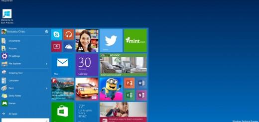 Windows 10 Tech Preview - Start Menu