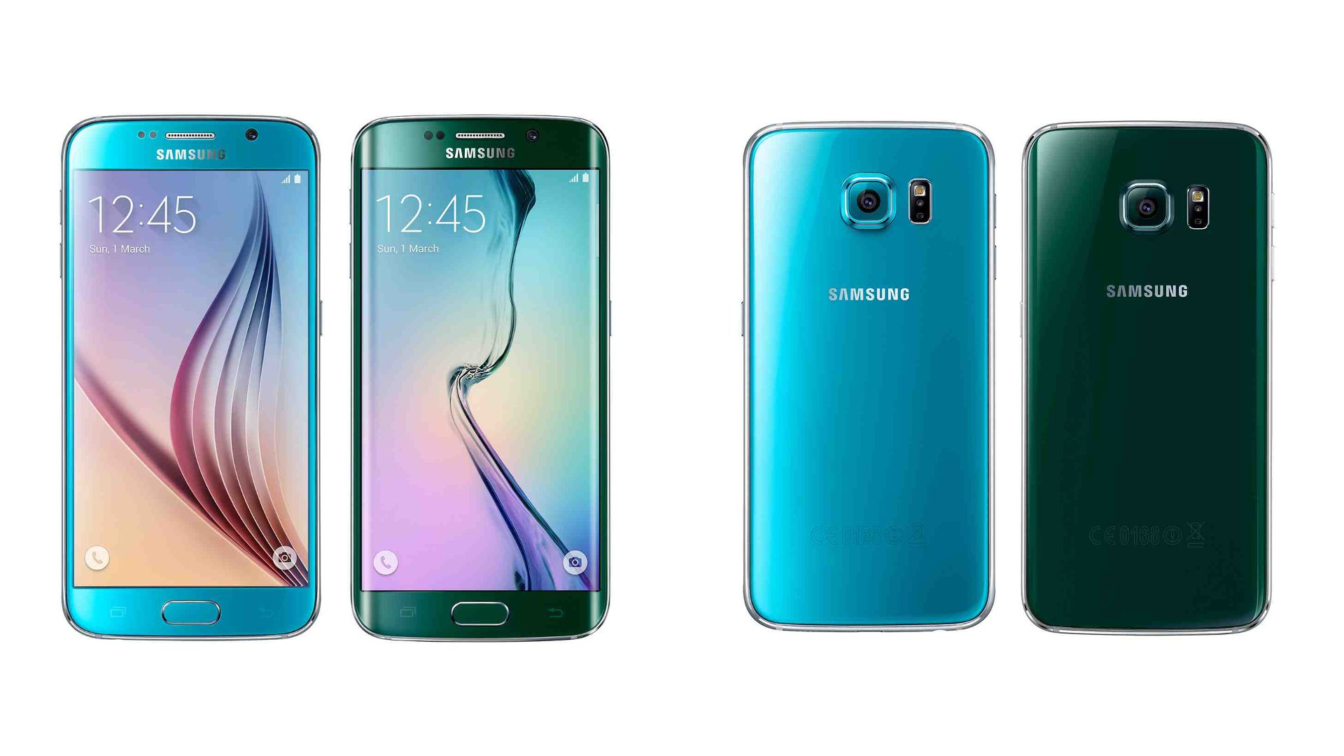 Blue Topaz Galaxy S6 and Green Emerald Galaxy S6 Edge