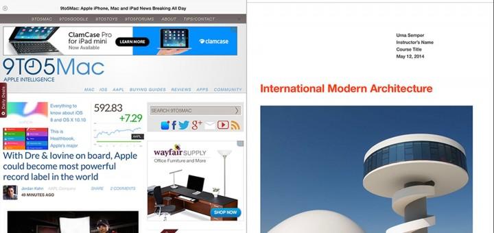 Split-Screen Multi-tasking iPad